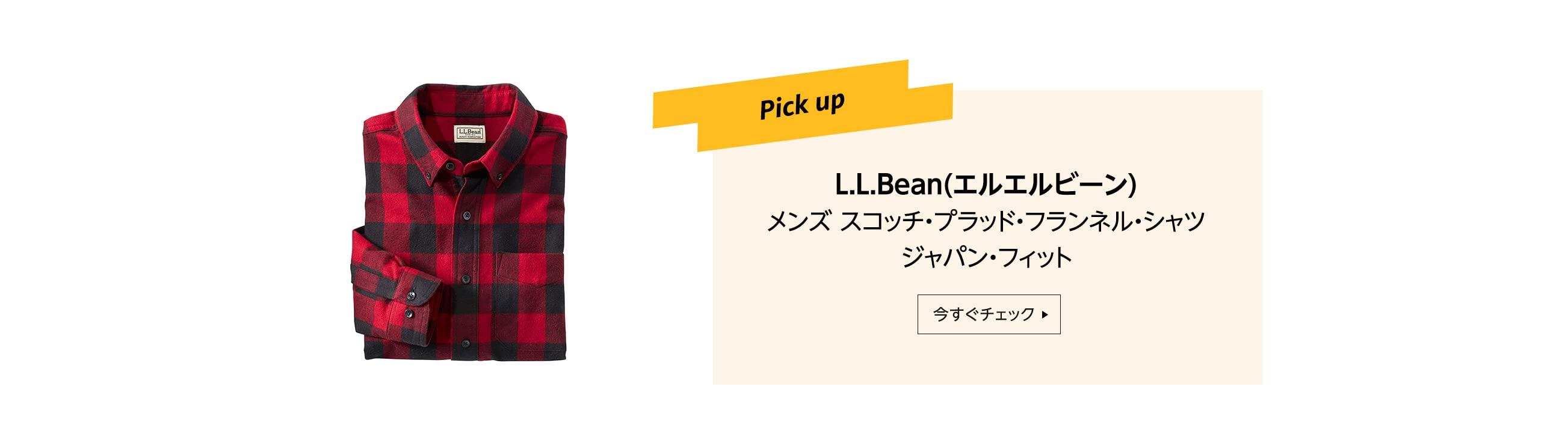 Pick up L.L.Bean(エルエルビーン) メンズ スコッチ・プラッド・フランネル・シャツ ジャパン・フィット