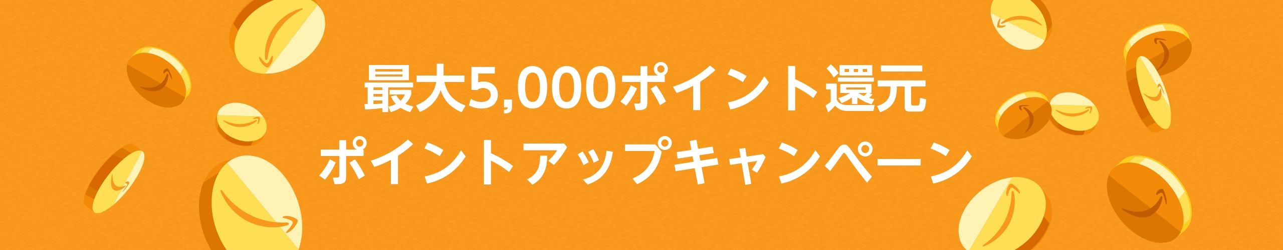 最大5000ポイント ポイントアップキャンペーン プレゼント