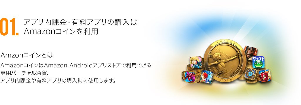 Amazon Android アプリストアの特徴1