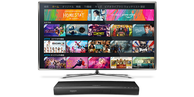 Image of Smart TV and Blu-Ray Player