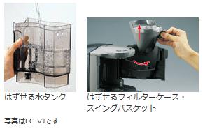 ZOJIRUSHI コーヒーメーカー珈琲通 【カップ約2~8杯】 ダークグレー EC-JS80-HW
