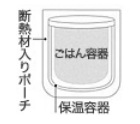TIGER まほうびん弁当箱(メンズ仕様) ブラック LWY-E036-K