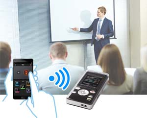 スマートフォンでリモコン操作が可能