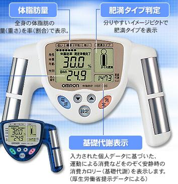 OMRON 体脂肪計 ブルー HBF-306-A