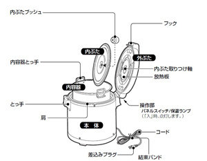 ZOJIRUSHI 業務用 電子ジャー 2升2合 THA-C40A-MK 木目