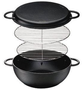 イシガキ産業 IH対応鉄人鍋25cm 2541【煮る・炊く・焼く・蒸す・燻製など様々なジャンルの料理に対応する多用鍋】