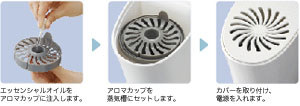 Electrolux mjuk vit(ミュークヴィート) スチーム式アロマ加湿器 【3~6畳用】EHF701