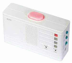 ELPA ワイヤレスチャイム ランプ付受信器+押ボタン送信器セット EWS-2001