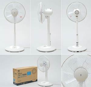山善(YAMAZEN) 30cmリビング扇風機(押しボタンスイッチ)タイマー付 ホワイトベージュ YLT-C30(WC)