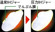 炊き上がったお米の違い図説