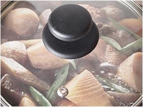 パール金属 プレミアムマーブル 内面4層+外面3層 マーブル加工 IH対応 ガラス蓋 付 片手鍋 18cm H-4236
