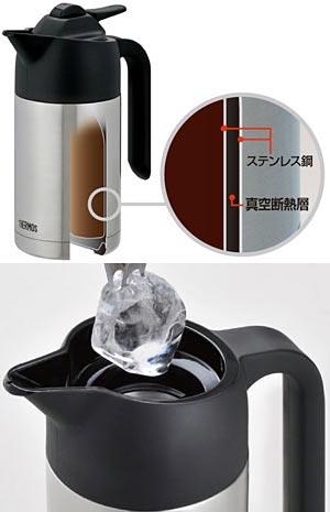 THERMOS 真空断熱ポット コーヒーメーカー 630ml ステンレスブラック ECF-700 SBK