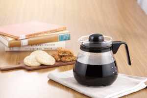 iwaki レンジのポット コーヒー1000 ブラック 1L KT7966-BK2