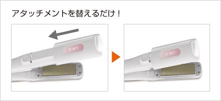 Panasonic 6Wayヘアーアイロン マルチ 白 EH-HW51-W