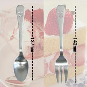 ニコ デザートスプーン/デザートフォーク 2本セット