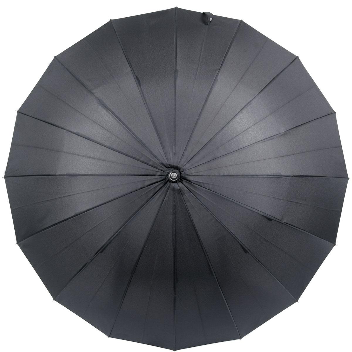 暁(akatsuki) 16本骨傘 軽量アルミシャフト仕様 ウッドハンドル ナイトブラック (漆黒) リングタッセル付 a06770 <34134>