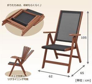 山善(YAMAZEN) ガーデンマスター フォールディングチェア MFC-259D(BK)