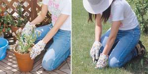 花柄カラフル園芸用手袋5双セット