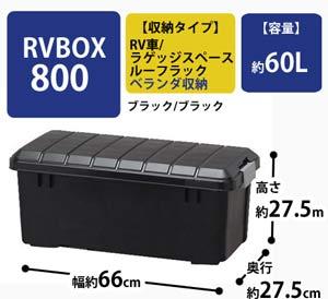 RVBOX 800 ブラック/ブラック 【幅78.5×奥行37×高さ32.5cm】