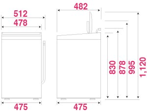 Haier+4.2kg全自動洗濯機+ホワイト JW-K42F(W)