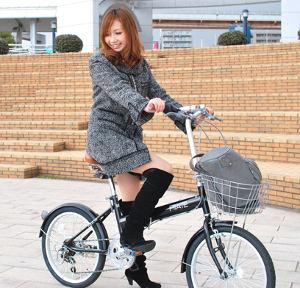 自転車の 自転車のカゴ取り付け : 段変速折りたたみ自転車[カゴ ...