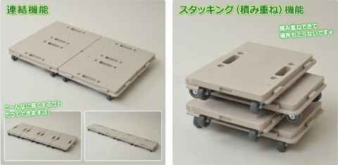 日東(NITTO) 家庭用平台車 ホームキャリー NTM-E50MK モカ