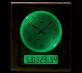 CASIO (カシオ) 温度湿度計付き電波アナログ目覚まし時計