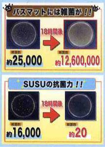 SUSU バスマット 抗菌 Lサイズ
