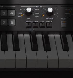 36音色の定番ビンテージ系キーボード・サウンドを響きまで豊かに再現。