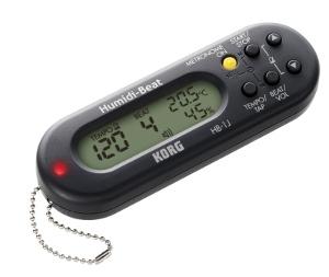 楽器のコンディションをいつでもチェックできる、温度・湿度計付き