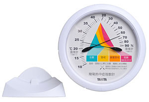 TANITA アナログ式 簡易熱中症指数計 小型 TT545-WH