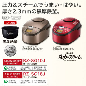 HITACHI 圧力スチームIH炊飯器 5.5合 RZ-SG10J