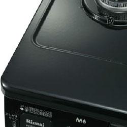 リンナイ ガステーブル コンパクト幅56cm・水有り片面焼グリル ホーロー ブラック KGE31NSB