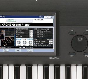 視認性に優れた大型カラーLCDディスプレイによるタッチビューを搭載。