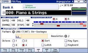 リフなども演奏可能なデュアル・ポリフォニック・アルペジエーター