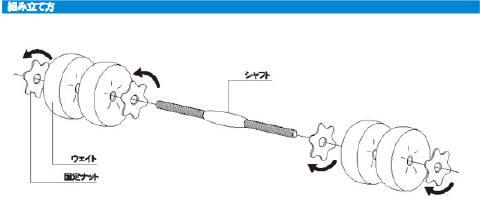 スマイル(SMILE) ウォーターダンベル1.5~7.5kg (2個セット)SE1207
