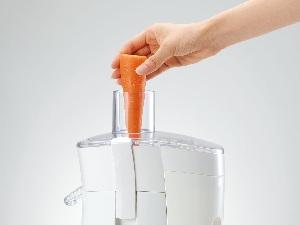 KOIZUMI S-LINE 【大きめ材料も入って洗いやすい】コンパクトジューサー ホワイト KMJ-S117/W