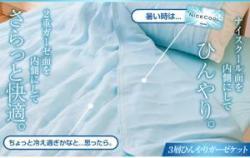 接触冷感ナイスクール 2重ガーゼ 3層ひんやりガーゼ (リバーシブルタイプ)