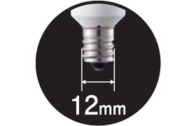 Panasonic LED装飾電球 0.5W(電球色相当) T型タイプ E12口金 10lm LDT1LGE12