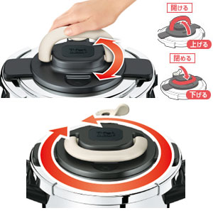 T-fal ワンタッチ開閉圧力なべ クリプソ アーチ