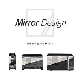 TWINBIRD ミラーガラスフラット電子レンジ ブラック DR-D259B