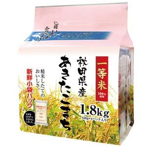 秋田県産 白米 あきたこまち 1.8kg 平成25年産