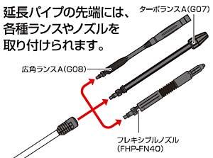 アイリスオーヤマ 高圧洗浄機 延長パイプ FHP-EP16