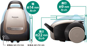 Panasonic 掃除機 紙パック式 MC-PK15A