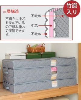 コジット 竹炭着物収納ケース 2層式