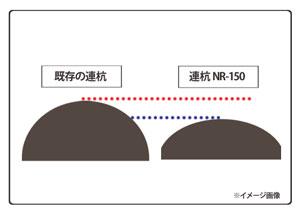 アイリスオーヤマ 連杭 ダークブラウン NR-150