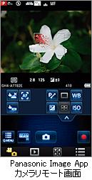 Panasonic Image App カメラリモート画面