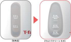 T-fal 電気ケトル アプレシア ウルトラクリーン ネオ 0.8L