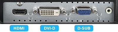 HDMI端子、HDCP対応DVI-D端子、D-SUBの3系統入力