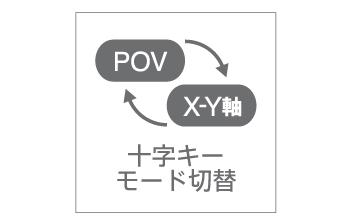十字キーをPOV⇔X-Y軸に切替可能